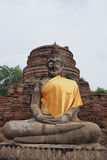 Buddha-Statue bei Wat Yai Chai Mongkon Lizenzfreie Stockbilder