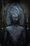 Buddha statue in black Royalty Free Stock Photo