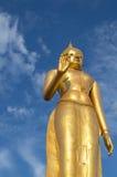 Buddha statue. On blue sky background Royalty Free Stock Image