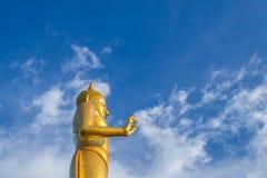 Buddha statue. On blue sky background Royalty Free Stock Photos