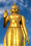 Buddha statue. On blue sky background Royalty Free Stock Photography