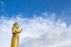 Buddha statue. On blue sky background Stock Photos