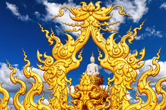 Buddha Statue Blue Sky Clouds Royalty Free Stock Photos
