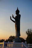 Buddha statue with blue sky at Khun Samut Trawat temple Thailand Royalty Free Stock Images