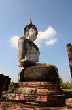 Buddha statue. Blue sky at thai Royalty Free Stock Photography