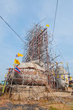 Buddha statue with blue sky under construction Royalty Free Stock Photography