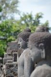 Buddha statue at Borobudur Royalty Free Stock Photos
