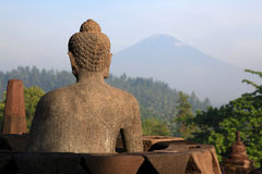 Buddha Statue at Borobudur Temple Royalty Free Stock Image