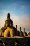 Buddha statue in Borobudur Temple,Borobudur, ancient buddhist temple near Yogyakarta, Java, Indonesia Stock Photography