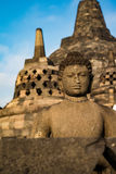 Buddha statue in Borobudur Temple,Borobudur, ancient buddhist temple near Yogyakarta, Java, Indonesia Stock Photo
