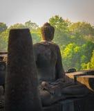 Buddha statue in Borobudur Temple,Borobudur, ancient buddhist temple near Yogyakarta, Java, Indonesia Stock Photos