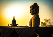 Buddha statue in Borobudur Temple,Borobudur, ancient buddhist temple near Yogyakarta, Java, Indonesia Royalty Free Stock Photo