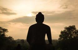 Buddha statue at the Borobudur temple, Indonesia Royalty Free Stock Photo