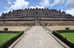Buddha statue at the Borobudur temple, Indonesia Stock Images