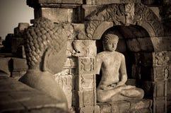 Buddha statue at Borobudur temple, Java, Indonesia Stock Photo