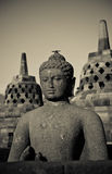 Buddha statue at Borobudur temple, Java, Indonesia Royalty Free Stock Images