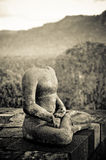 Buddha statue at Borobudur temple, Java, Indonesia Royalty Free Stock Image