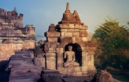 Buddha Statue at Borobudur Temple Stock Photo