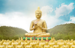 Buddha statue in buddhism temple thailand. Royalty Free Stock Photo