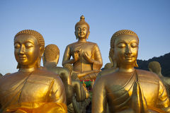 Buddha statue in buddhist temple thailand Stock Photography
