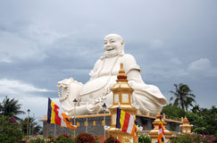 Buddha statue in a Buddhist Temple in Vietnam stock image