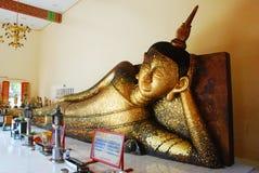Buddha-Statue am buddhistischen Tempel Stockbild