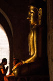 Buddha statue in a Burmese temple of Bagan Stock Images