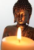 Buddha Statue and Candlelight Royalty Free Stock Photography