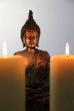 Buddha Statue and Candlelight Royalty Free Stock Photo