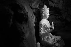 Buddha statue. In the cave at Phetchaburi Province, Thailand Stock Photos