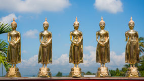 Buddha statue. In ceremony to celebrate new house in thailand Royalty Free Stock Images