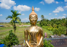 Buddha statue. In ceremony to celebrate new house in thailand Stock Images