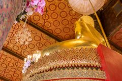 The buddha statue in chapel Thailand. Royalty Free Stock Images