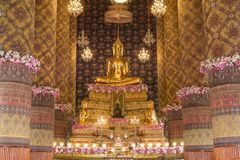 The buddha statue in chapel Thailand. Royalty Free Stock Photos