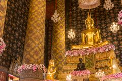 The buddha statue in chapel Thailand. Royalty Free Stock Image