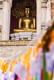 Buddha Statue In Chedi , Wat Chedi Lung Chiangmai Stock Photo