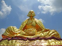 Buddha statue at chiang rai temple Stock Image