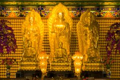 Buddha statue (Chinese style). Chinese Temple, Nontaburi province, near Bangkok, Thailand. It is the place for buddhist and tourist Royalty Free Stock Photos