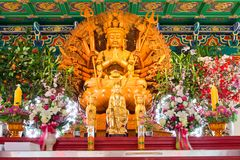 Buddha Statue in Chinese Temple Royalty Free Stock Photo