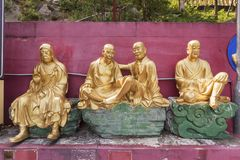 Buddha Statue in Chinese temple Stock Photography