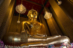 Buddha statue in the church. Looked calm Stock Images