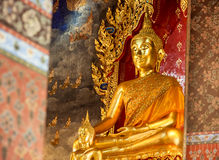 Buddha statue in the church Royalty Free Stock Photos