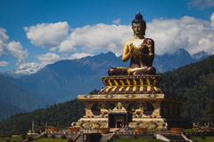 Buddha statue. In the city of Sikkim India Royalty Free Stock Photos
