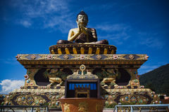 Buddha statue. In the city of Sikkim India Stock Images