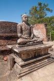 Buddha Statue Close Up In Vatadage, Polonnaruwa Sri Lanka Royalty Free Stock Image