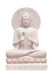 Buddha statue close up isolated against white. Background Stock Image