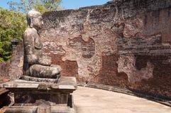 Buddha statue close up in Vatadage, Polonnaruwa, Sri Lanka Stock Images
