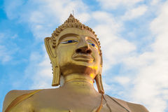 Buddha statue and blue sky Stock Image