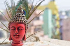 Buddha statue in colorful background