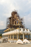 Buddha statue construction. Stock Photo